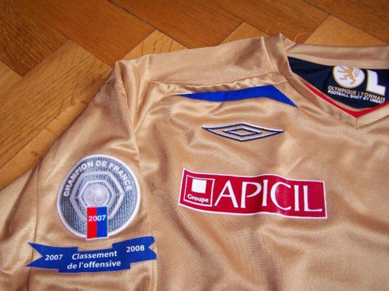 Maillot OL 2007-2008 extérieur