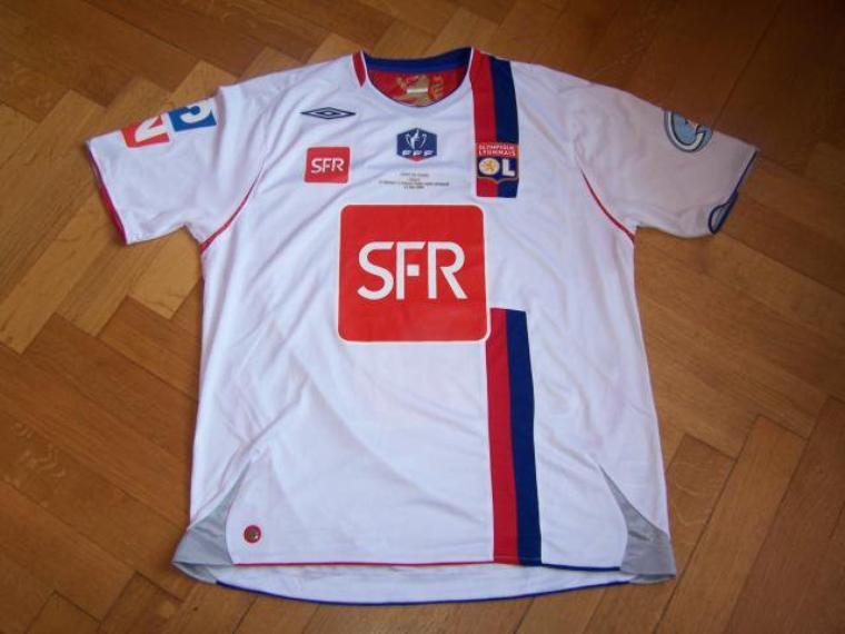 Maillot OL 2007-2008 finale coupe de France