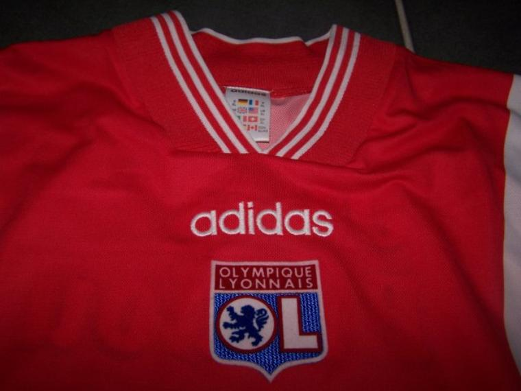 Maillot OL 1996-1997 extérieur rouge