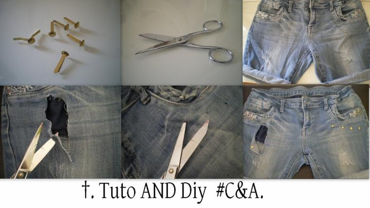#DIY 4; Relooking short en jean.