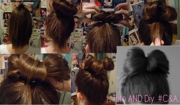 #Tuto Cheveux 1; Noeud de Lady Gaga. ♥