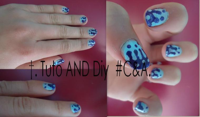 #Tuto 2; Nail Art poids + gouttes!