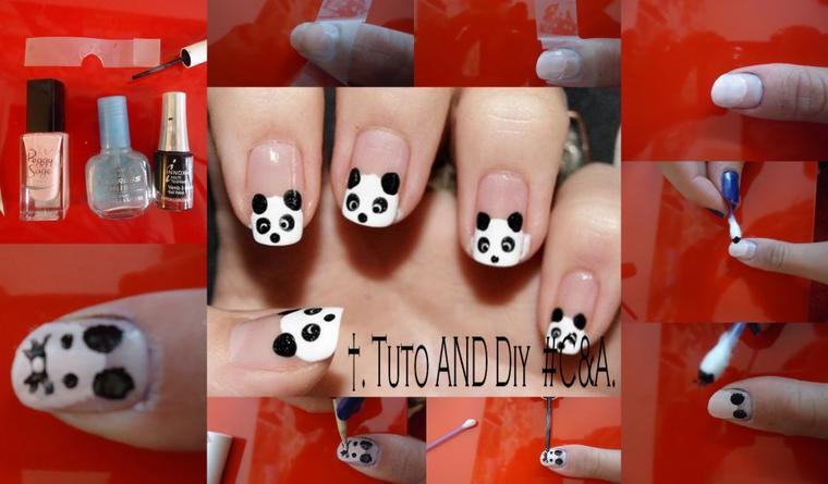 #Tuto 3; Nail Art Panda ou souris!