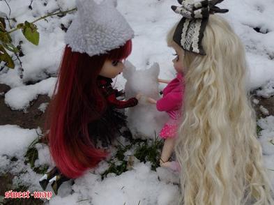 Les puces dans la neige