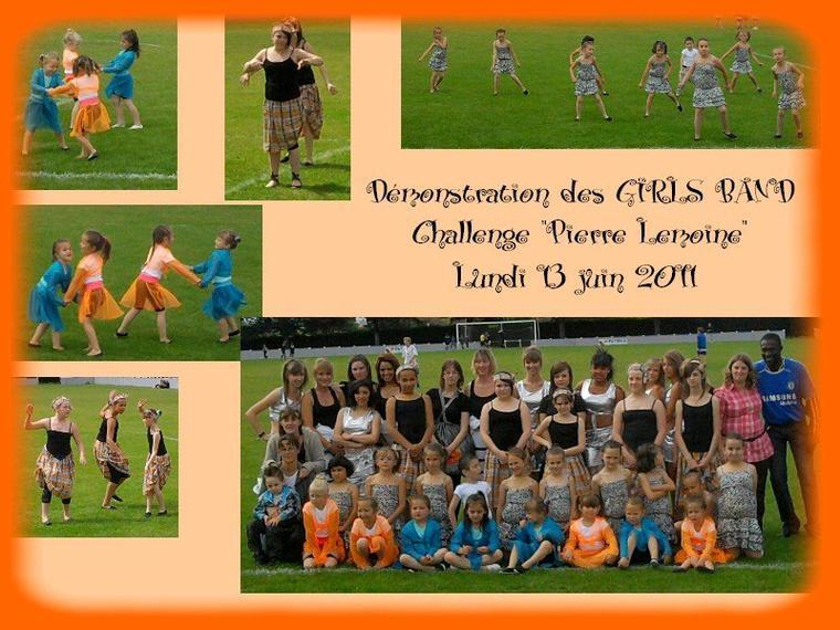 """Démonstration de danse au challenge de foot """"PIERRE LEMOINE"""", Lundi 13 juin 2011."""