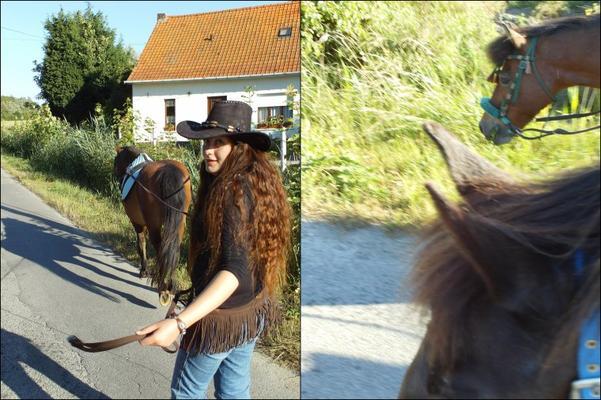 * 4 Juillet 2010 * Balade avec Vicomte & Mi-Loup *