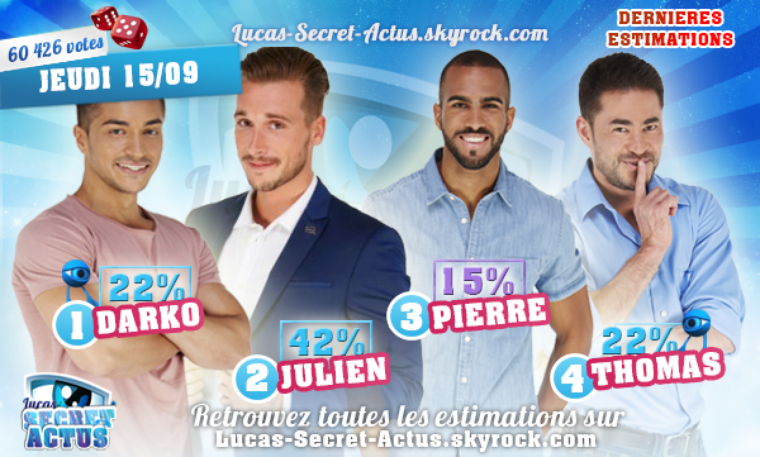 #ESTIMATIONS: Nominations Semaine 3 - DARKO/ JULIEN / PIERRE/ THOMAS