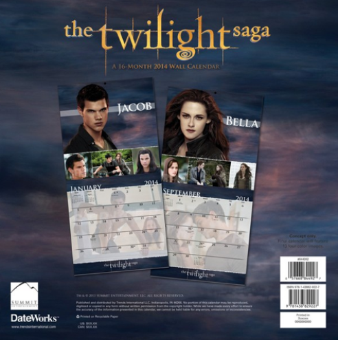 Calendrier 2014 de Twilight