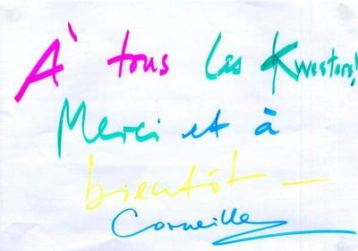 Les dédicaces de Corneille et Mister You !