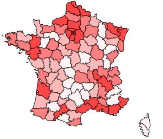 LES DEPARTEMENTS LES PLUS VIOLENTS DE FRANCE DEPUIS TOUJOURS (de 1996 à 2012)