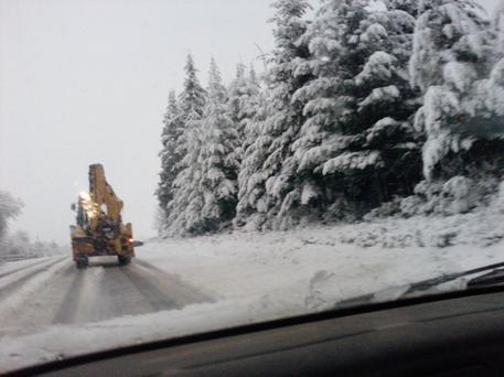 Un chantier de l'année derniere sous la neige en 2010