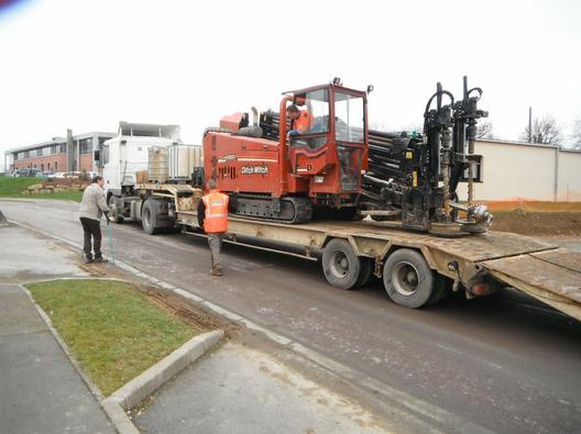 Petit chantier de forage a SAINT-LO Rue Alexis de Cocqueville