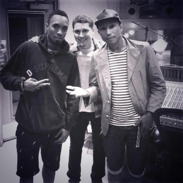 Pharrell en studio avec ... - Los Angeles - 1 juin 2013