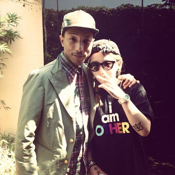 Pharrell & Mina Kwon - 2 juin 2013