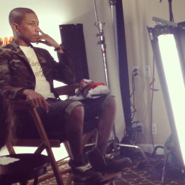 Pharrell - Interview/Conférence de presse pour Despicable Me 2 - 14 juin 2013