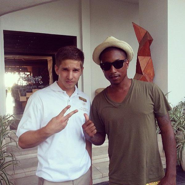 Pharrell - Anguilla - Juillet 2013