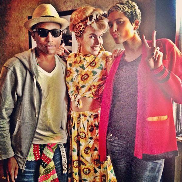 Pharrell en studio avec ... - 31 juillet 2013