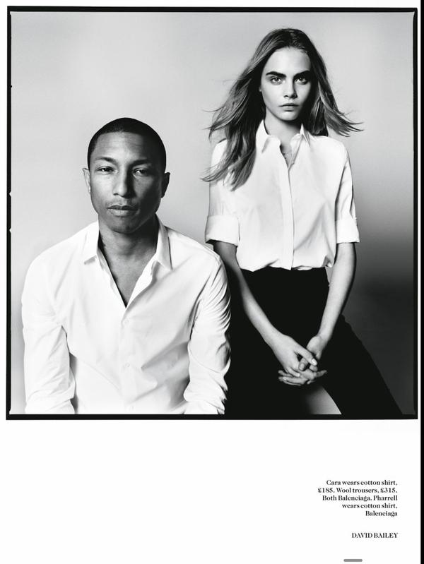 Pharrell & Cara Delevingne - Vogue UK Septembre 2013