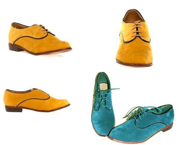 Derbie jaune et bleu pointure 36 au 41 prix 30 euros ! Pour celle qui aime etre original***