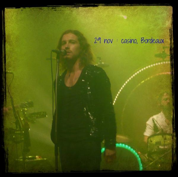 29/11/12 : concert à Bordeaux