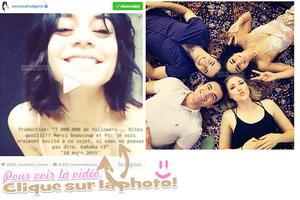 . •18 avril 2015• Vanessa entrain de signer des autographes et de prendre des photos avec des fans devant le Théâtre Neil Simon.  .