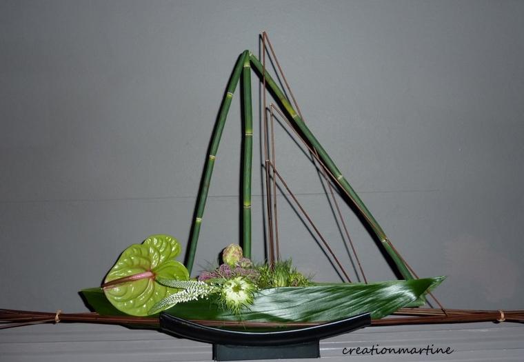 ATELIER FLORAL CHEZ PASSION DE L ART FLORAL LE 06/O7/2012