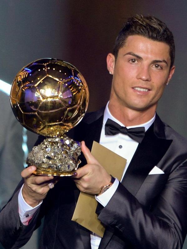 cristiano ronaldo le ballon d'or 2012,2013,2014