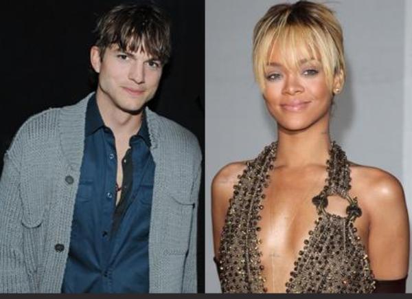 Rihanna: Elle a passé une partie de la nuit avec Ashton Kutcher