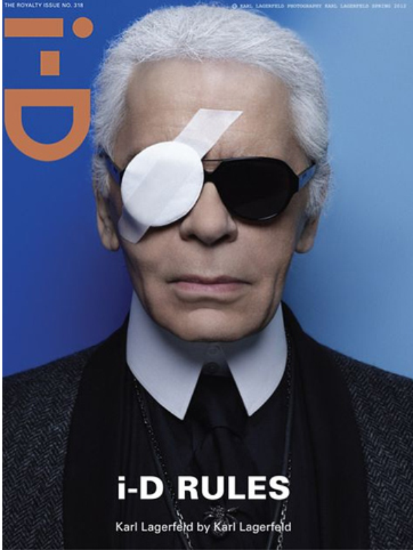 Karl Lagerfeld: Découvrez le borgne