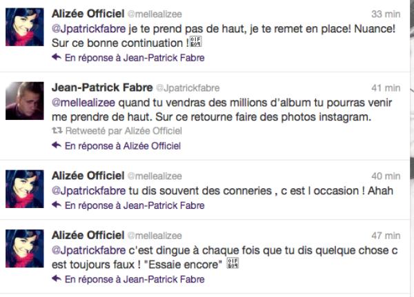 Alizée: Elle se clash avec un fan sur twitter