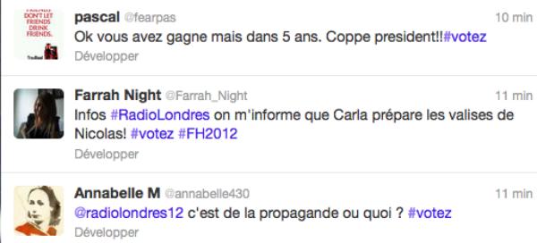 Twitter au C½ur de la campagne 2012