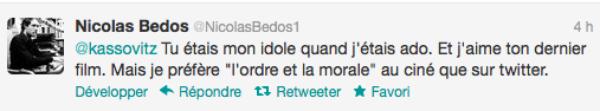 Mathieu Kassovitz accuse Nicolas Bedos d'avoir écrit un Tweet raciste