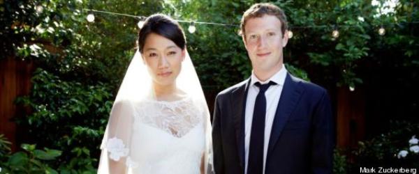 Mark Zuckerberg, le patron de Facebook s'est marié