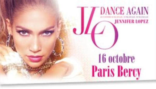 Jennifer Lopez à Bercy le 16 octobre