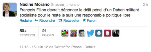 Nadine Morano : Elle rêgle ses comptes avec François Fillon & Gérald Dahan sur twitter