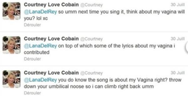 (Photos) Courtney Love s'en prend à Lana Del Rey à cause de Nirvana