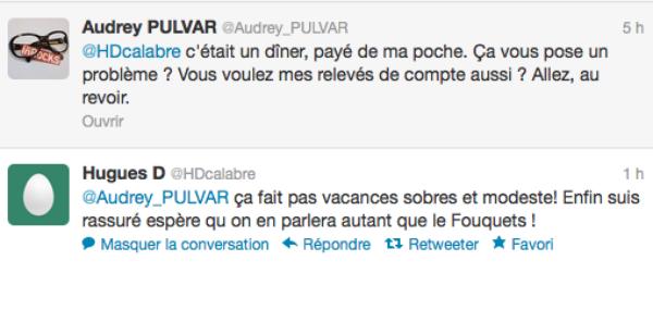 Audrey Pulvar : Elle se clash avec un twittos possédant un compte anti Arnaud Montebourg