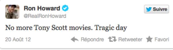 """Tony Scott : Le metteur en scène de """"Top Gun"""", s'est suicidé !"""