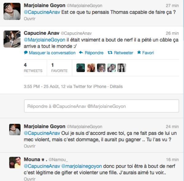 Secret-Story 6 : Capucine prend la défense de Thomas sur twitter