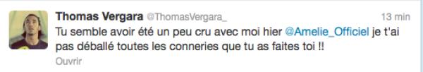 Secret Story 6 : Thomas Vergara : Il s'explique sur twitter et clash Amélie