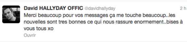 David Hallyday : Il donne des nouvelle rassurantes de son père via twitter
