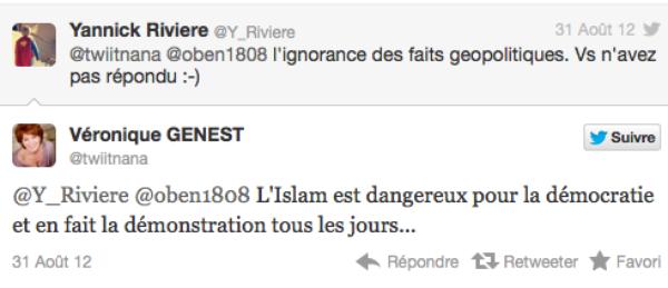 """Véronique Genest : """"L'islam est dangereux pour la démocratie"""" !"""