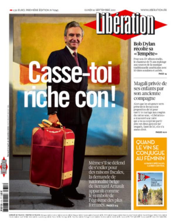 Libération : La Une conne