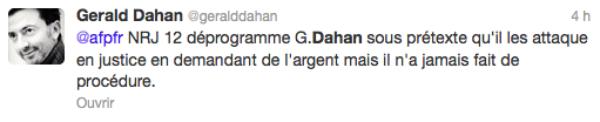 Gerald Dahan : Censuré sur NRJ12, découvrez ses SMS et tweetes avec Jean-Marc Morandini