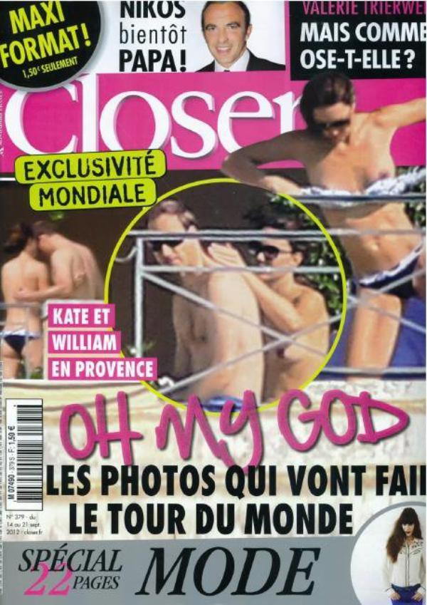 ( Photos) Kate Middleton: closer publie en exclusivité mondial des photos nue de la femme du Prince William d'Angleterre
