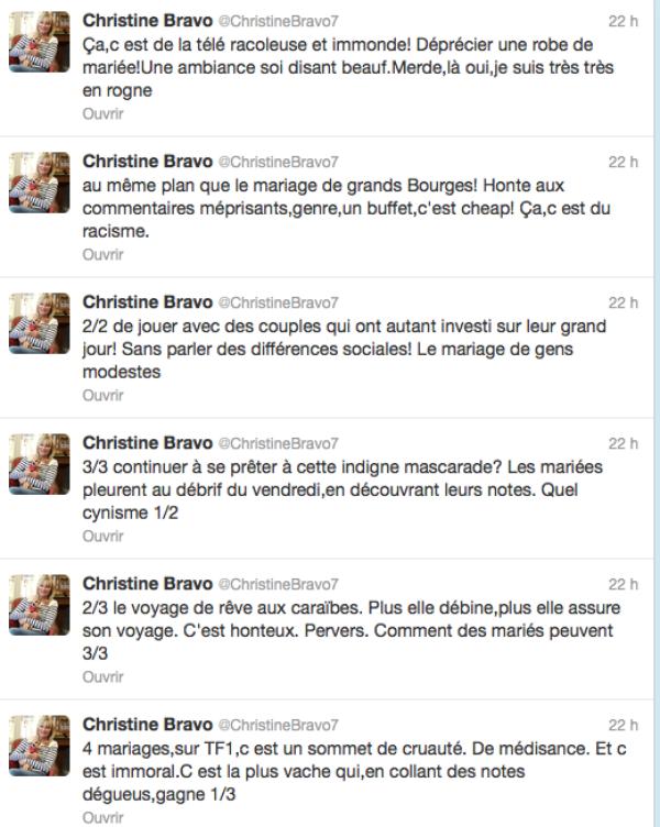"""Christine Bravo : 4 mariage et une lune de miel, """"c'est le concept le plus dégueulasse et pervers que j'aie vu"""""""