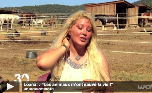 """Loana: : """"Les animaux m'ont sauvé la vie !"""""""