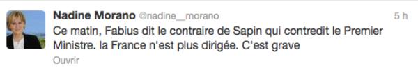 """Nadine Morano : """" Jean-Marc Ayrault a été totalement décrédibilisé"""""""
