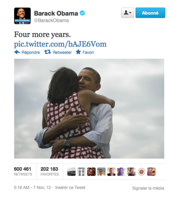 Barack Obama : Sa réélection en fait une star sur twitter