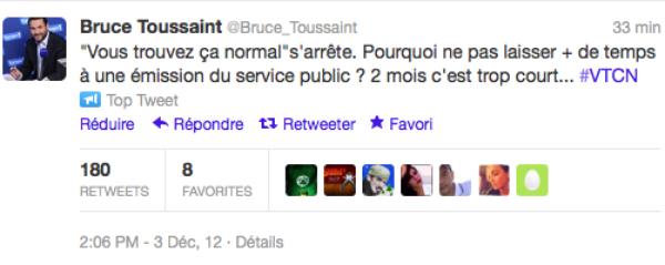 Bruce Toussaint: Il annonce sur twitter l'arrêt de son émission sur France 2